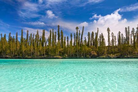Natural pool of Oro Bay, Isle of Pines, New Caledonia Archivio Fotografico