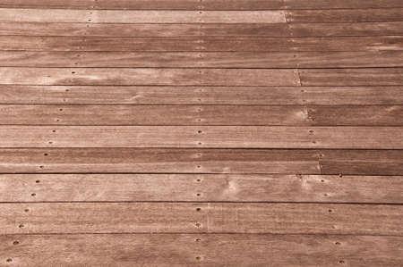 ship deck: Natural outdoor wooden floor perspective Stock Photo