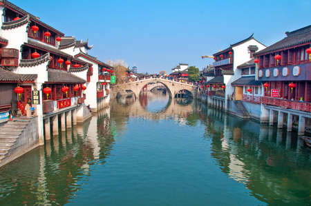 water town: Qibao, China, Qibao is a very touristic water town  near Shanghai, during Chinese New Year Editorial