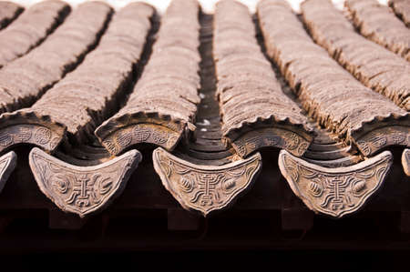 rooftile: Traditional chinese roof tiles close up