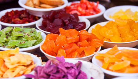 candied: Colorful candied fruits assortment