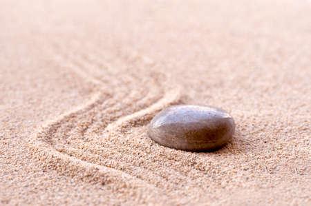 pebbles: Zen stone and sand