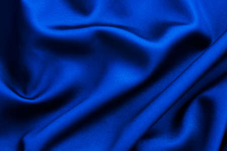 Blue fabric close up background 写真素材