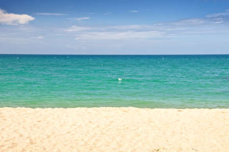 turquoise water: Beach, turquoise water and blue sky