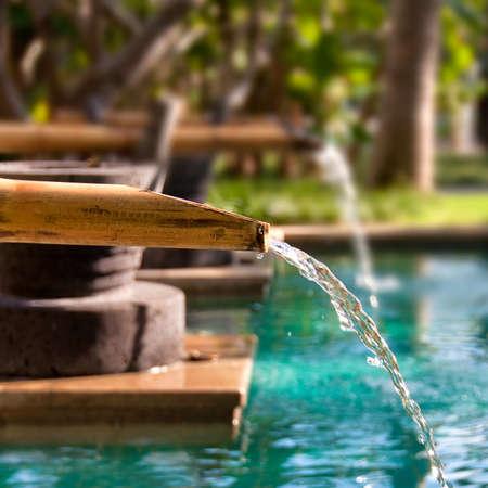 bamboo fountain: Bamboo fountain
