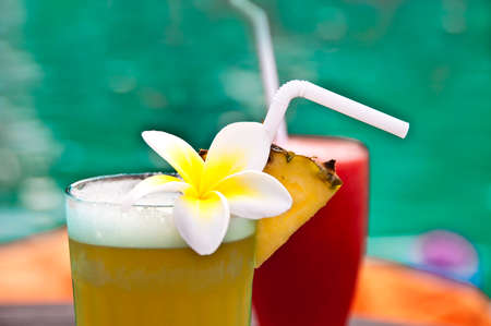 pool bar: Tropical cocktails by a swimming pool
