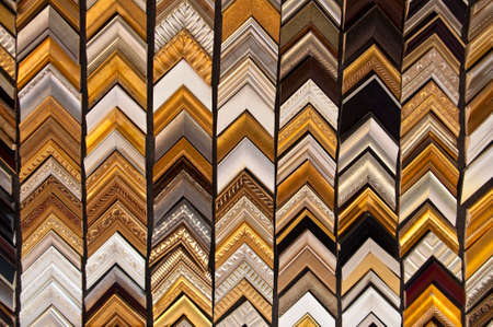 Background of wooden frames samples