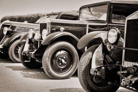 old car: Vintage cars, black and white