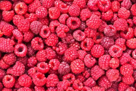 Raspberries background