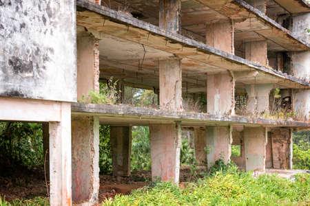 urban decline: Interior of a ruined building, Cuba
