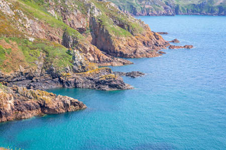 guernsey: Cliffs of the South coast, Guernsey