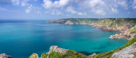 normandy: Icart point panorama, Guernsey