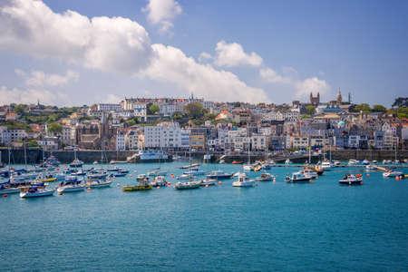 Saint Peter port, Guernsey Banco de Imagens - 61766278