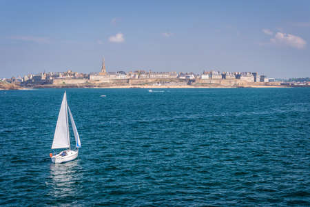 st malo: Seaside view of Saint Malo, Brittany, France Editorial