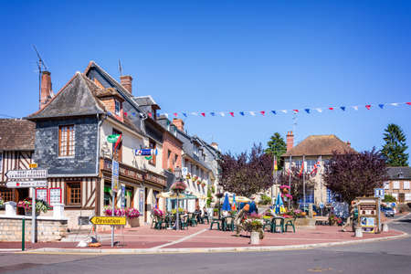 cider: Cambremer, touristic village on the Cider Route in Normandy, France