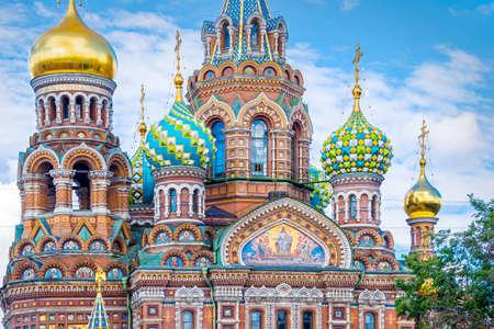 Kirche des Erlösers auf dem Blut, Sankt Petersburg Russland Standard-Bild - 63620442