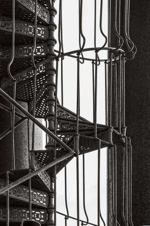 metallic stairs: Spiral metallic stairs