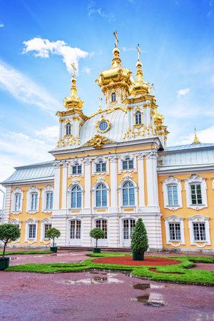 st  petersburg: Church of Peterhof palace, St Petersburg, Russia