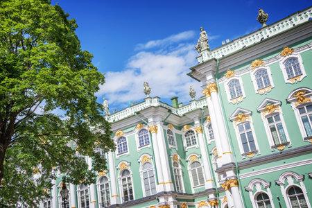hermitage: State Hermitage museum facade, St Petersburg, Russia