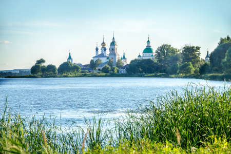 golden ring: Lake Nero and monastery of St.Jacob Saviour, Rostov, Golden ring, Russia