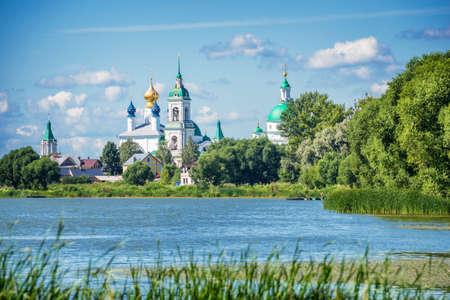golden ring: Lake Nero and monastery of St Jacob Savior, Rostov, Golden ring Russia