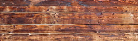 wall decor: Old wooden planks background header Stock Photo