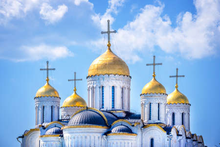 golden ring: Dormition cathedral, in Vladimir, Golden Ring, Russia Stock Photo