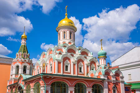 red square: Kazan cathedral on Red Square, Moscow, Russia Stock Photo