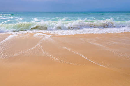 sea wave: Atlantic ocean, front view of waves on the beach