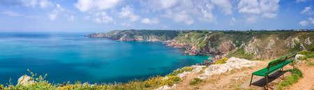 guernsey: Icart point panorama, Guernsey