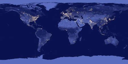 Ziemia w nocy - Elementy tego obrazu są dostarczane przez NASA