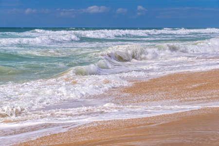 atlantic ocean: Waves on the beach, atlantic ocean in Lacanau, France