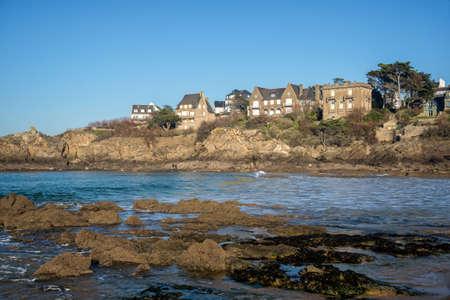 st malo: Coast of Brittany at Saint Lunaire near Saint Malo, France