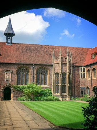 cambridgeshire: Queens college university of Cambridge, in Cambridge, UK