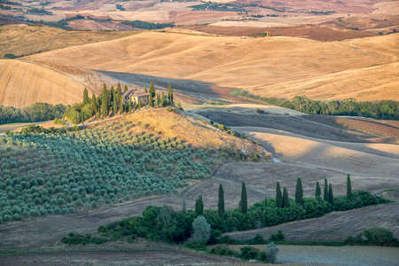 Beautiful typical countryside summer landscape in Tuscany, Italy