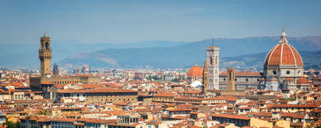 Panoramic view of Florence with the Basilica Santa Maria del Fiore (Duomo), Tuscany, Italy