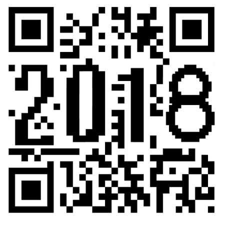 2018 written inside a QR code