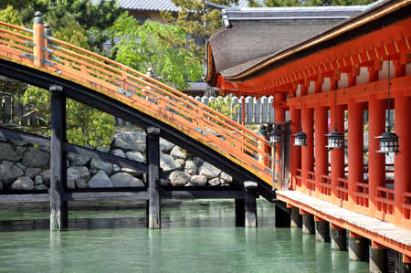 Itsukushima shrine, Miyajima island, Japan Stock Photo