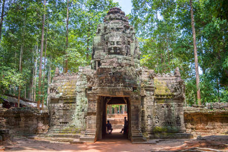 Ancient temple in Angkor Wat, Siem Rep, Cambodia