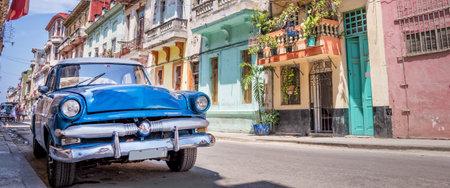 Voiture américaine classique vintage à La Havane, Cuba