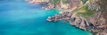 Icart point panoramic landscape, Guernsey