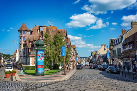 Streets of Deauville, France during the 44th Deauville American Film festival