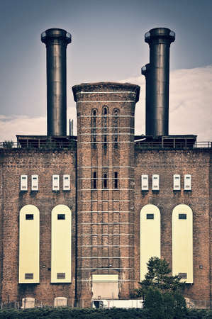 The powerhouse, ancient industrial brick building in Jersey city, New Jersey, USA