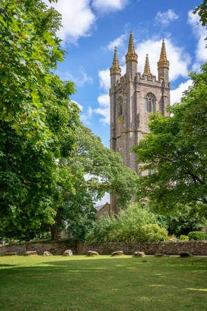 St Pancras church in Widecombe in the Moor, Dartmoor, Devon, UK Stock Photo