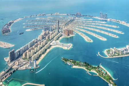 Luftaufnahme der Insel Dubai Palm Jumeirah, Vereinigte Arabische Emirate Standard-Bild
