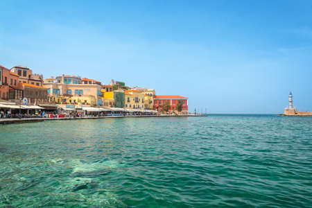 Venitian habor of Chania in Crete, Grece