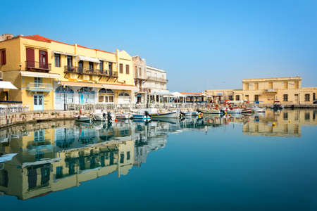 Rethymno venitian habor in Crete, Greece