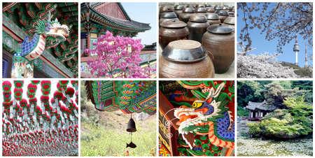South Korea travel photos collage