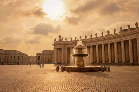 Saint Peters basilica in St Peters square in Vatican, Rome Italy Editorial