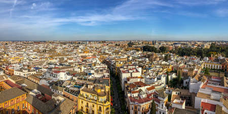 Aerial view of Seville from the roof of the cathedral, Andalusia, Spain